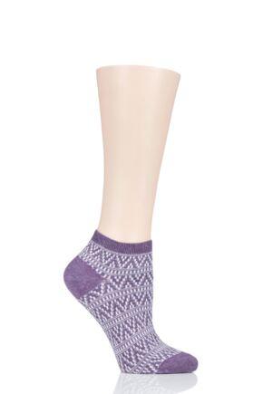 Ladies 1 Pair Tavi Noir Sophia Casual Braided Trainer Socks