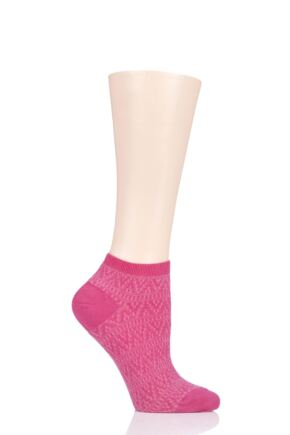 Ladies 1 Pair Tavi Noir Sophia Casual Braided Trainer Socks
