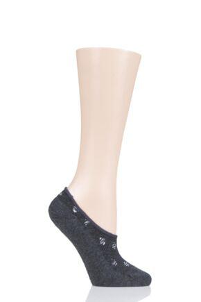 Ladies 1 Pair Tavi Noir Grace Organic Cotton Casual Patterned Trainer Socks Booksmart One Size