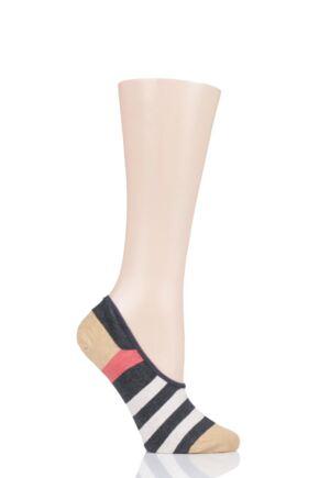 Ladies 1 Pair Tavi Noir Grace Organic Cotton Casual Patterned Trainer Socks