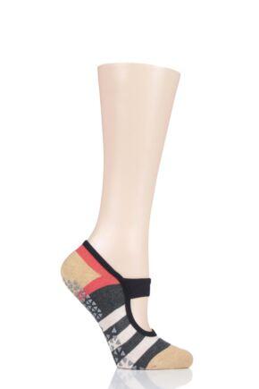 Ladies 1 Pair Tavi Noir Full Toe Organic Cotton Lola Dance and Yoga Socks with Grip