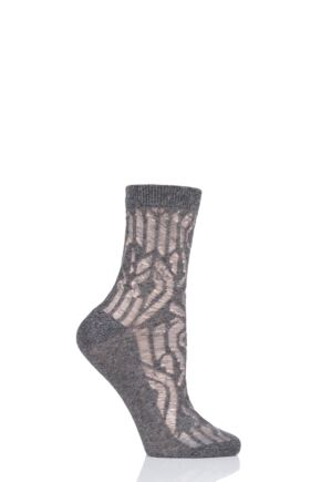 Ladies 1 Pair Tavi Noir Remi Organic Cotton Casual Art Deco Socks