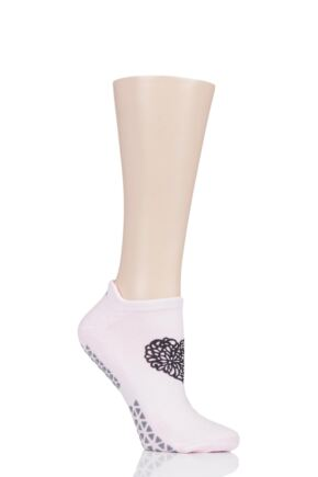 Ladies 1 Pair Tavi Noir Savvy Organic Cotton Low Rise Yoga Socks with Grip