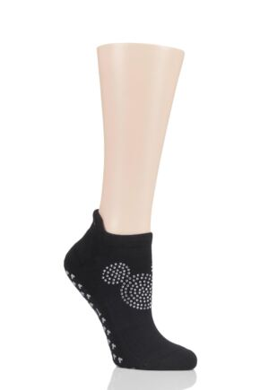 Ladies 1 Pair Tavi Noir Disney Disco Mickey Socks