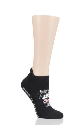 Ladies 1 Pair Tavi Noir Disney Mickey and Minnie Love Socks