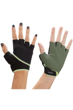 Mens and Ladies 1 Pair ToeSox Yoga Half Finger Grip Gloves