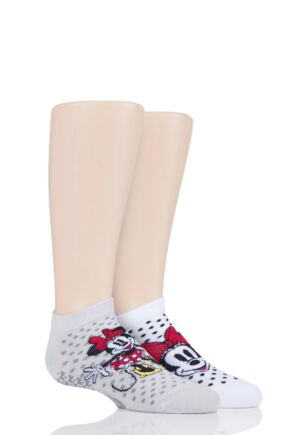 Boys and Girls 2 Pair Tavi Noir with Disney Tiny Soles Minnie Gripper Socks