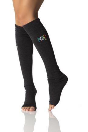 Ladies 1 Pair ToeSox Full Toe Organic Cotton JoJo Knee High Leg Warmers