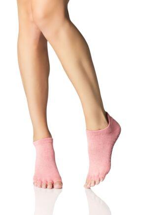 Mens and Ladies 1 Pair ToeSox Half Toe Organic Cotton Low Rise Yoga Socks