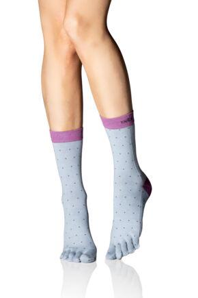 Ladies 1 Pair ToeSox Full Toe Casual Crew Socks