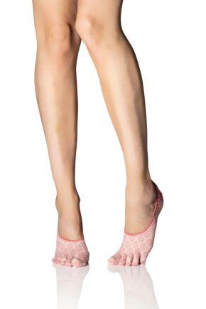 Ladies 1 Pair ToeSox Full Toe Dash Low Rise Socks