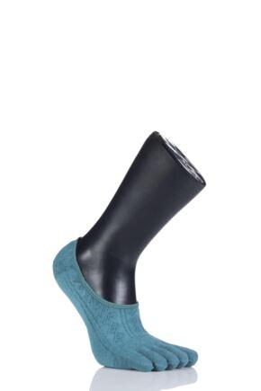 Ladies 1 Pair ToeSox Full Toe Dash Low Rise Fishnet Socks Mermaid 3-5.5
