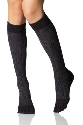 Ladies 1 Pair ToeSox Full Toe Knee High Socks