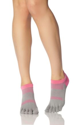 Ladies 1 Pair ToeSox Lolo Sports Socks Flush 6-8.5