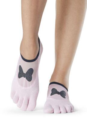 Ladies 1 Pair ToeSox Disney Full Toe Minnie Mesh Socks with Bow