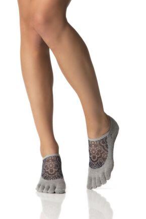 Ladies 1 Pair ToeSox Full Toe Organic Cotton Luna Mesh Socks