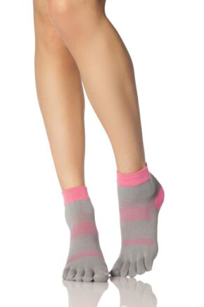 Ladies 1 Pair ToeSox Minnie Sports Full Toe Ankle High Socks