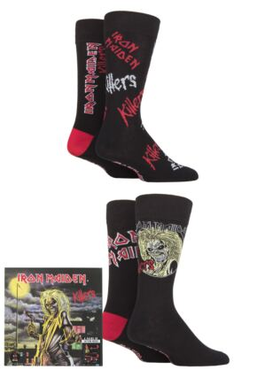 Iron Maiden 4 Pair Exclusive to SOCKSHOP Gift Boxed Cotton Socks