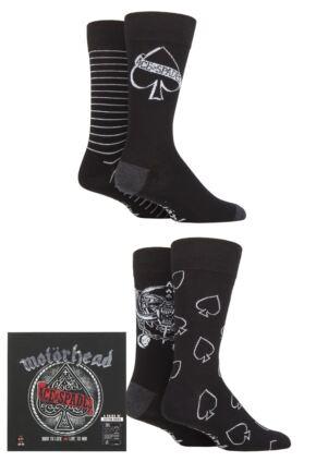 Motorhead 4 Pair Exclusive to SOCKSHOP Gift Boxed Cotton Socks