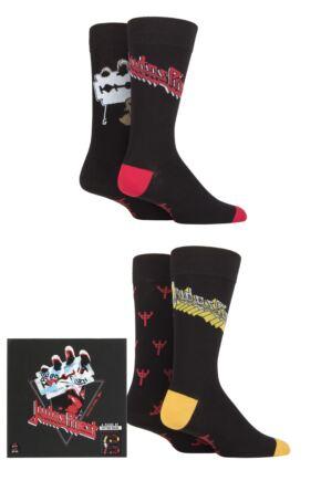 Judas Priest 4 Pair Exclusive to SOCKSHOP Gift Boxed Cotton Socks