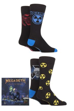 Megadeth 4 Pair Exclusive to SOCKSHOP Gift Boxed Cotton Socks