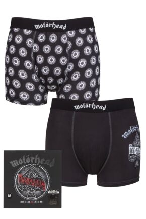 Motorhead 2 Pack Exclusive to SOCKSHOP Gift Boxed Boxer Shorts