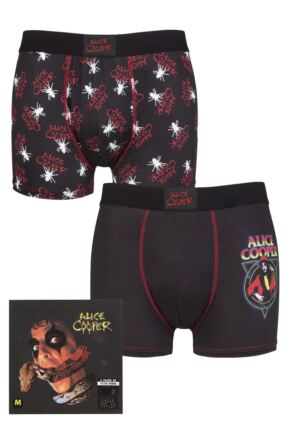 Alice Cooper 2 Pack Exclusive to SOCKSHOP Gift Boxed Boxer Shorts