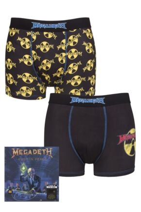 Megadeth 2 Pack Exclusive to SOCKSHOP Gift Boxed Boxer Shorts