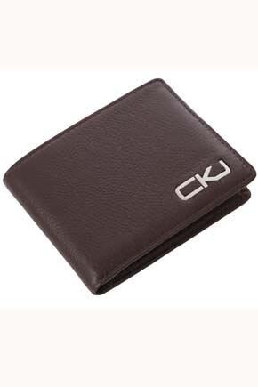 Mens Calvin Klein Jeans Leather Wallet For 7 Credit Cards andamp; Removable Pass Holder Chocolate
