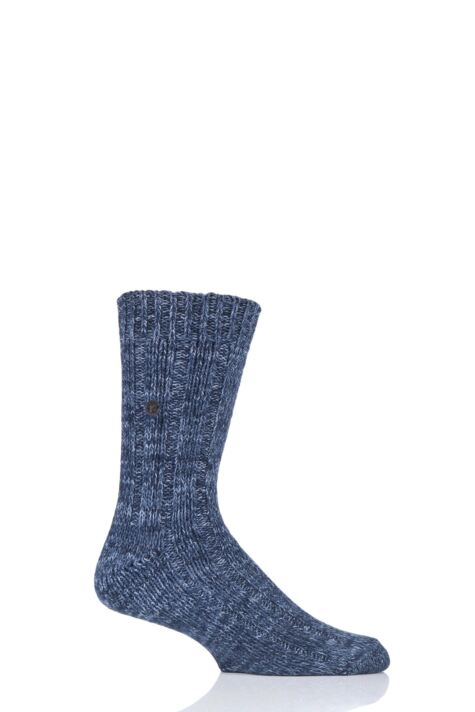 Mens 1 Pair Birkenstock Cotton Slub Twist Ribbed Socks Product Image