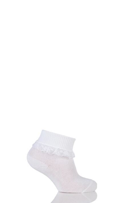 Baby Girls 1 Pair Falke Romantic Lace Trim Ankle Socks Product Image