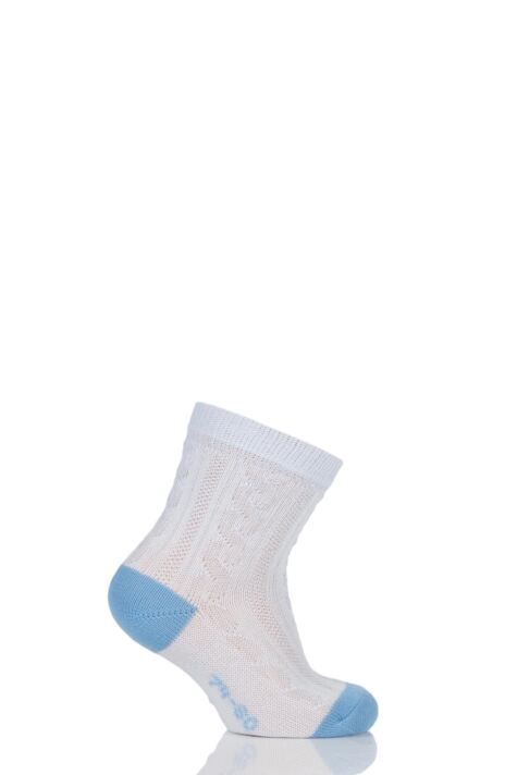 Babies 1 Pair Falke Cable Knit Cotton Ankle Socks Product Image