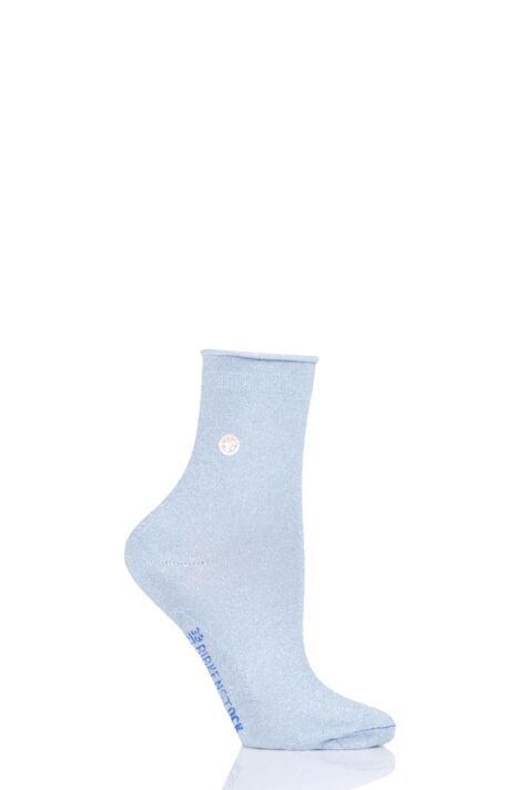Ladies 1 Pair Birkenstock Cotton Sole Bling Socks Product Image