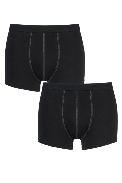 Mens 2 Pack Sloggi 24/7 Basic Natural Cotton Boxer Shorts Product Image