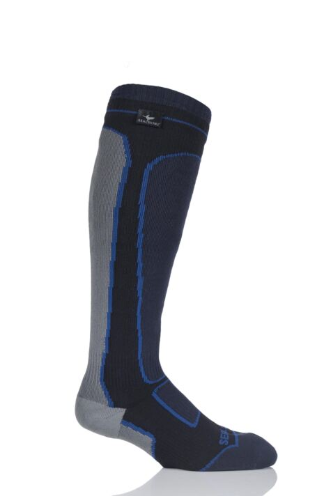 Mens and Ladies 1 Pair Sealskinz New and Improved Mid Weight Knee Length 100% Waterproof Socks Product Image