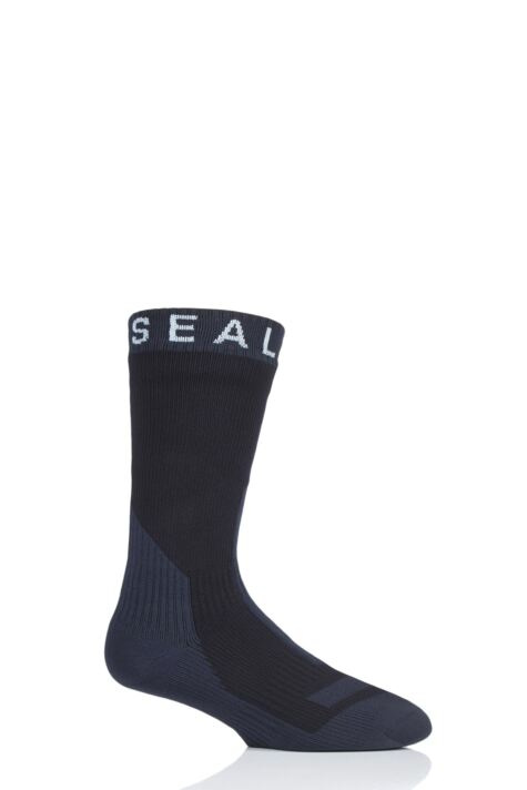 SealSkinz 1 Pair 100% Waterproof Trekking Thick Mid Length Socks Product Image