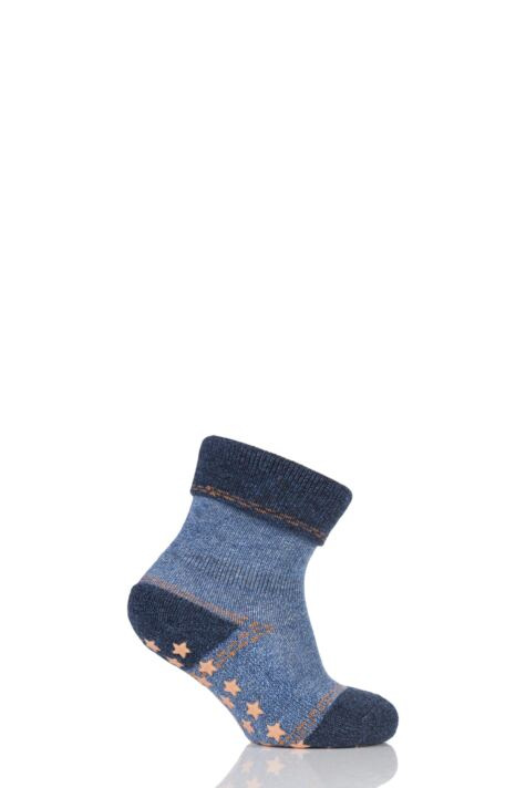 Babies 1 Pair Falke Denim Catspad Socks with Grip Product Image