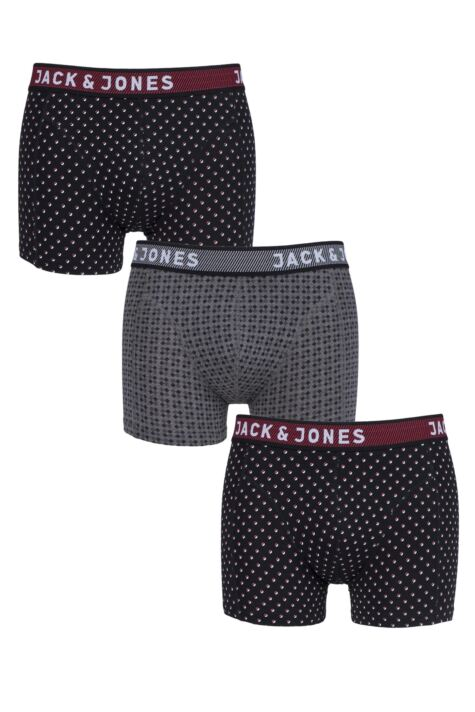 Mens 3 Pack Jack & Jones Peter Dots Trunks Product Image