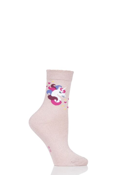 Girls 1 Pair Falke Unicorn Socks Product Image