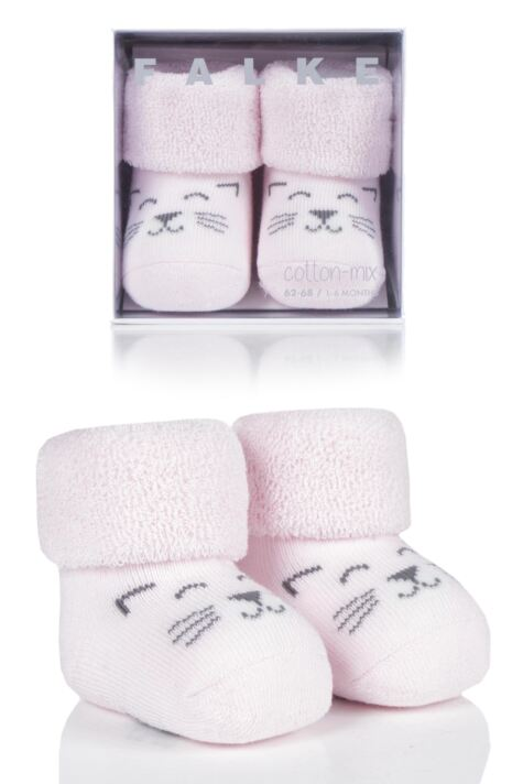 Babies 1 Pair Falke Baby Bear and Baby Cat Cotton Socks Product Image