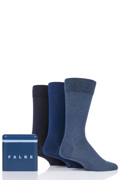 Mens 3 Pair Falke Gift Boxed Cotton Socks Product Image