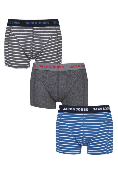 Mens 3 Pack Jack & Jones Thomas Striped Trunks Product Image