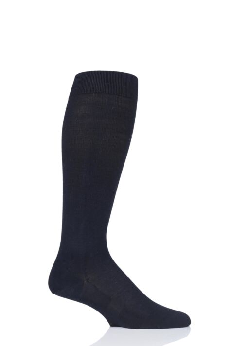 Mens 1 Pair Falke Travel and Comfort Energizing Cotton Compression Socks Product Image