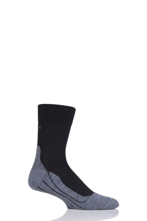 Mens 1 Pair Falke RU4 Cushioned Wool Sports Crew Socks Product Image