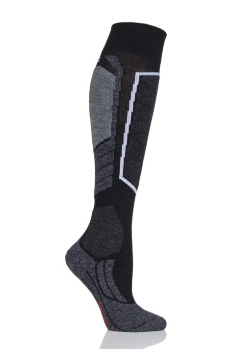 Ladies 1 Pair Falke SK4 Medium Volume Wool Ski Socks Product Image