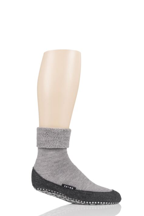 Mens 1 Pair Falke Cosyshoe Virgin Wool Home Socks Product Image