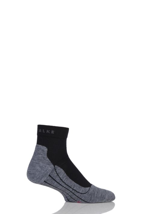 Mens 1 Pair Falke Light Volume Ergonomic Cushioned Short Running Socks Product Image