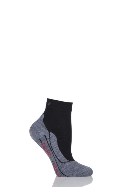 Ladies 1 Pair Falke RU4 Short Light Volume Ergonomic Cushioned Short Running Socks Product Image
