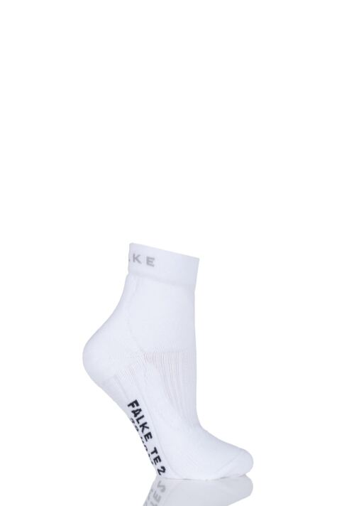 Ladies 1 Pair Falke TE2 Short Medium Volume Ergonomic Cushioned Short Tennis Socks Product Image