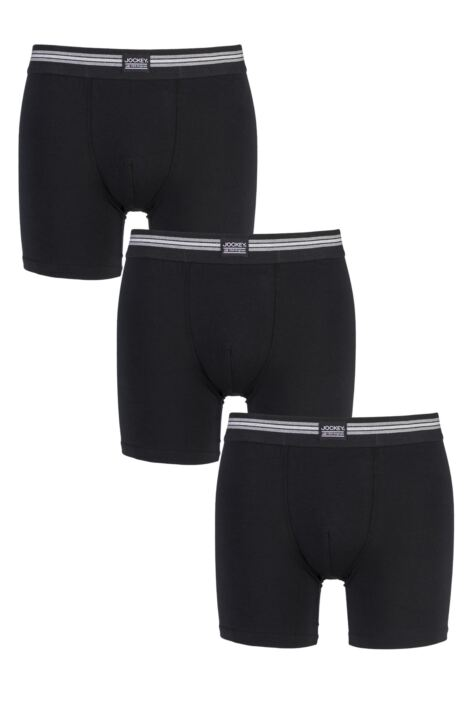 Mens 3 Pack Jockey Cotton Stretch Boxer Shorts Product Image
